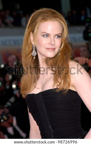 Actress NICOLE KIDMAN at the premiere of her new movie Moulin Rouge which opened the 54th Cannes Film Festival. 09MAY2001   Paul Smith/Featureflash