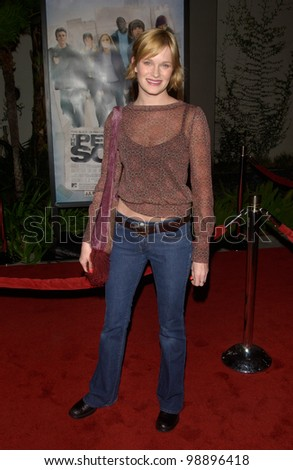 Actress NICOLE TOM at the world premiere, in Hollywood, of The Perfect Score. January 27, 2004
