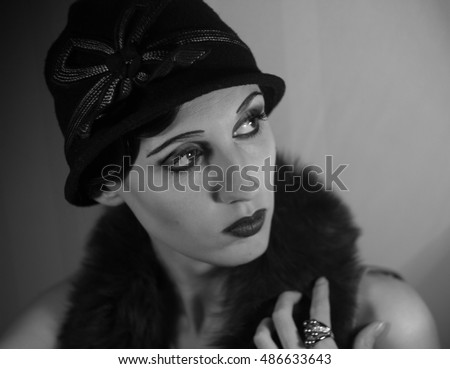 Actress old Hollywood 1920-1930 years the Golden age imitation of the portrait of a movie star