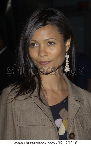 Actress THANDIE NEWTON at the world premiere of her new movie Shade, in Hollywood. April 6, 2004