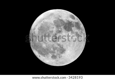 Actual Photograph Of The Full Moon Taken At Prime Focus Through An ...