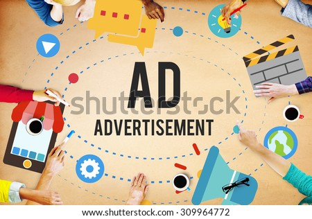 Ad Advertisement Marketing Commercial Concept