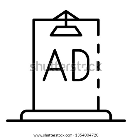 Ad city lightbox icon. Outline ad city lightbox icon for web design isolated on white background