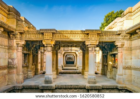 Adalaj Stepwell or Rudabai Stepwell is a stepwell located in the village of Adalaj, it was built in 1498 in the memory of Rana Veer Singh, by his wife Queen Rudadevi