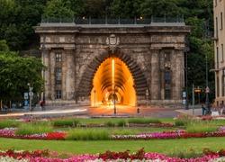 Adam Clark Tunnel (Buda Castle Tunnel) under Castle Hill in Budapest, Hungary.