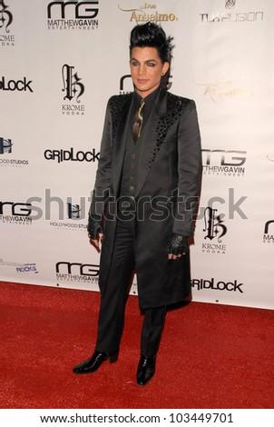Adam Lambert at the Gridlock New Years Eve 2010 Party, Paramount Studios, Hollywood, CA. 12-31-09