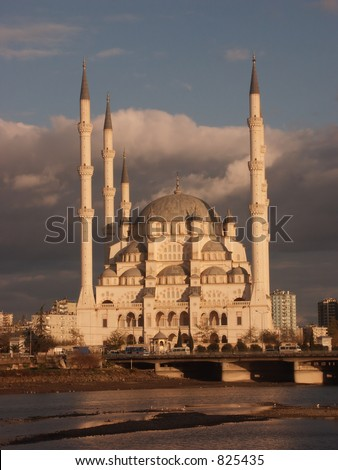 Adana mosque at sunrise - some noise at 100%