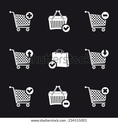Add and remove shopping cart icons