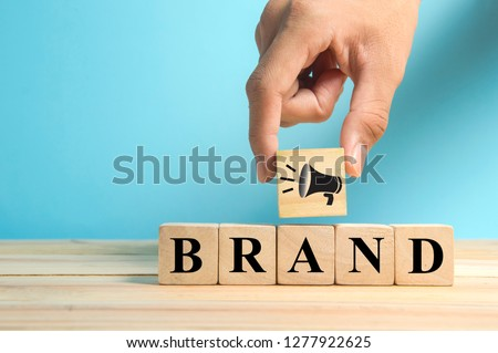 add megaphone symbol as build brand awareness concept