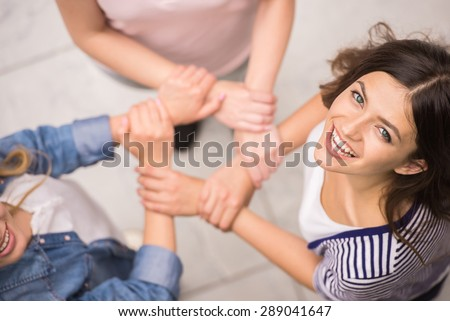 Addicted people having good time together on special group therapy.