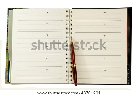 address-phone book with pen
