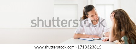 ADHD Child Counseling. Psychiatry Kid Therapy Doctor Foto stock ©