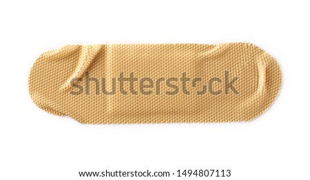 Adhesive band aid isolated on white background, top view Сток-фото ©