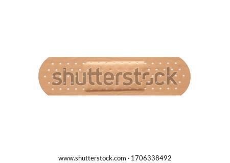 Adhesive bandage plaster on white background. Сток-фото ©