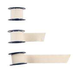 Adhesive bandage sticking plaster isolated over white background, set of three