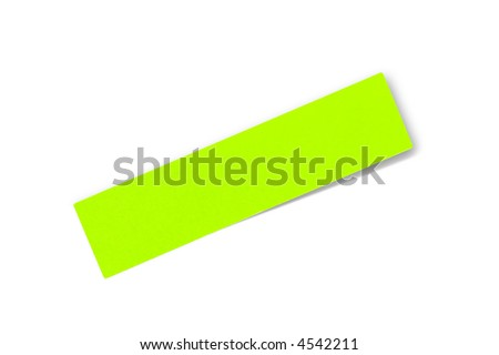 Adhesive note isolated on white
