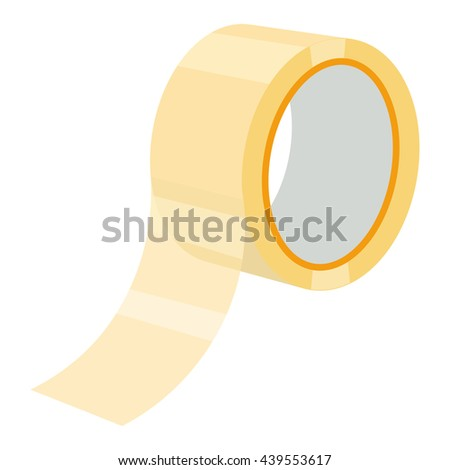adhesive tape illustration isolated on a white background.Raster copy of vector file
