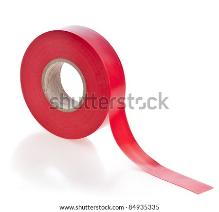 adhesive tape on white - stock photo