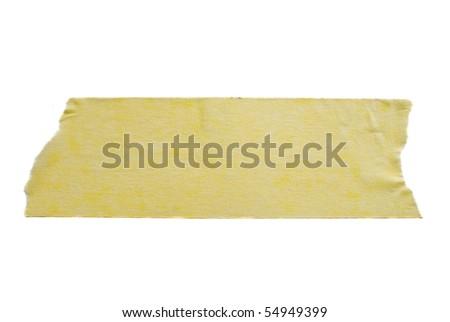 Adhesive tape on white background