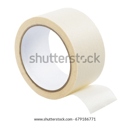 adhesive tape on white background, isolated