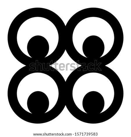 Adinkra mate masie symbol of prudence Zdjęcia stock ©