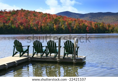adirondack chairs on a swim...