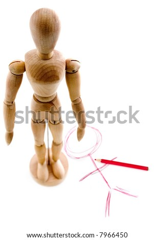 adjustable wooden model posing stand position - draw instruction ...