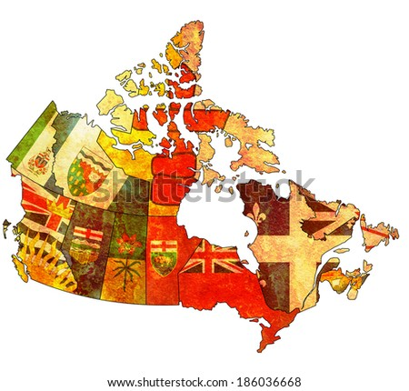 administration map of canada...