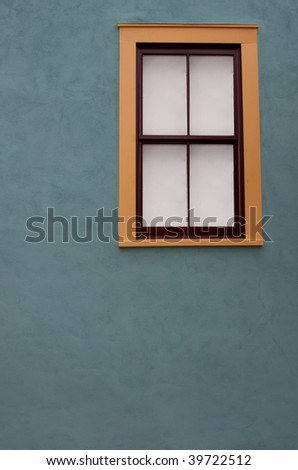 Adobe window in historical South Western wild west town