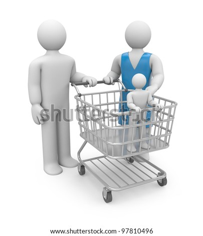 Adoption or shopping. Image contain clipping path