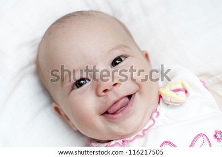 Adorable Baby Girl Smiling At You