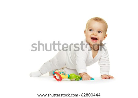 Adorable baby isolated on white background