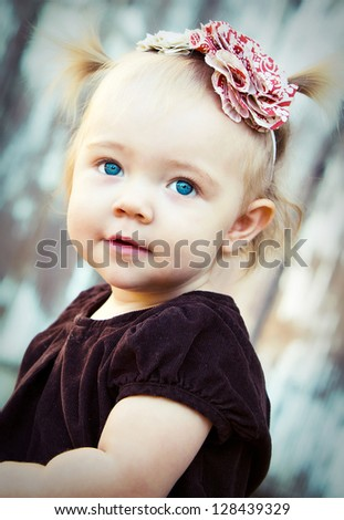 adorable blue eyed baby girl