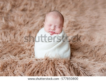Free Photos Little Baby Child Kid Wrapped In A White Knitted