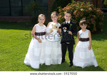 stock photo Adorable Child Wedding Party