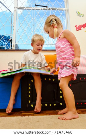 playschool children learning