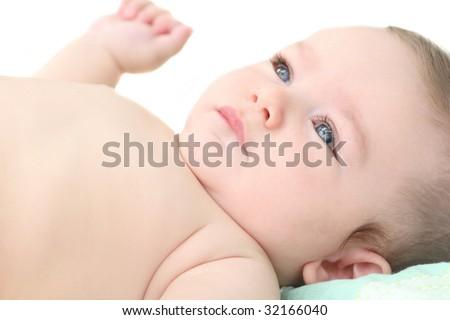 Adorable infant / baby boy portrait, suitable for parenting, childhood, motherhood themes
