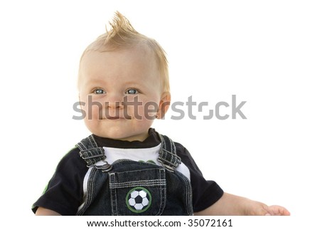 Adorable Little Boy on white background