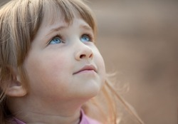Adorable little girl - closeup portrait