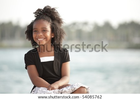 Adorable little girl smiling
