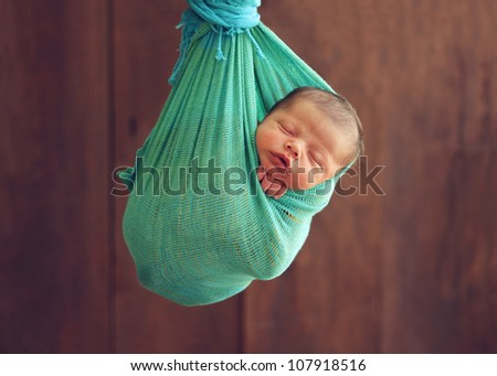 Adorable newborn baby boy