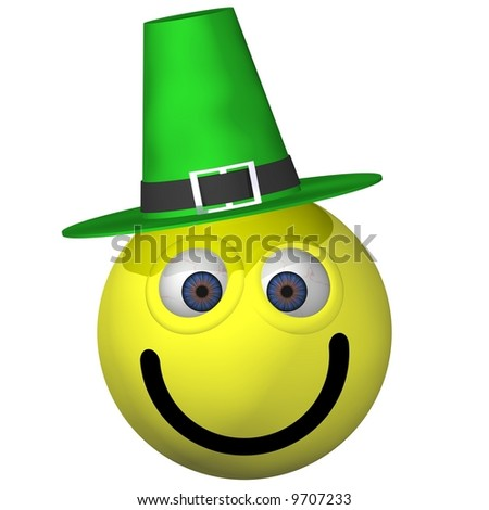 Adorable St. Patrick's Day smiley isolated on white