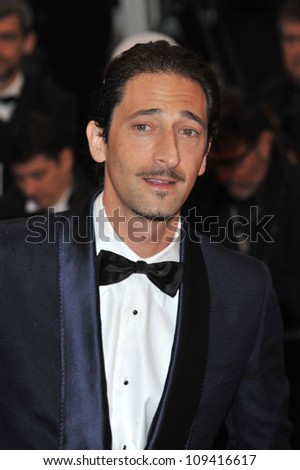 Adrien Brody at the closing awards gala at the 65th Festival de Cannes. May 27, 2012  Cannes, France Picture: Paul Smith / Featureflash