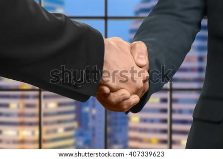 nice to meet you handshake logo