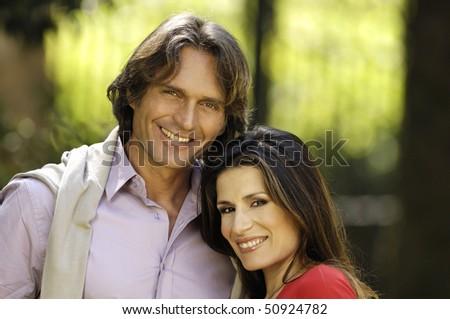 Adult couple portrait smiling