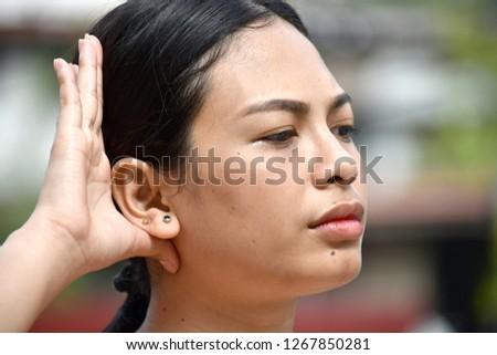 Adult Female Listening