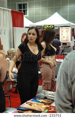 stock photo : Adult film star Aria Giovanni participates in the 2004 Erotica ...