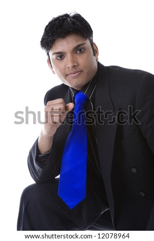 stock photo : Adult Male Indian Model in business suit over white background