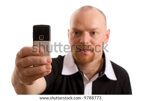 stock photo adult male model taking picture with camera phone isolated on white background 9788773 animated sex cartoons