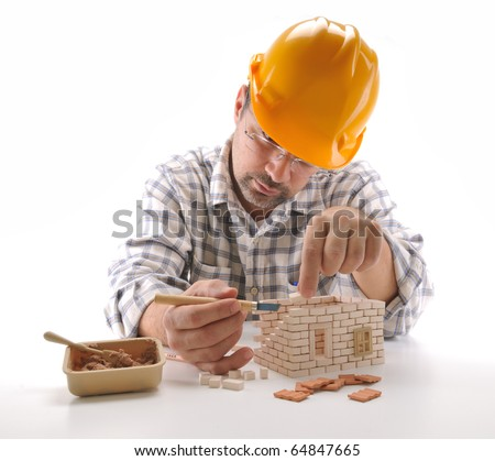 stock photo adult man building a brick house isolated on white a series of building a house images 64847665 The lovely folks at ADULT SWIM are bringing you a FREE show on June 11th ...